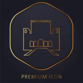 Logo nebo ikona prémie zlaté čáry Alhambra