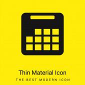 Roční kalendář minimální jasně žlutý materiál ikona