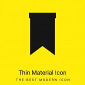 Könyvjelző minimal fényes sárga anyag ikon