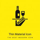 Bar Servis minimální jasně žlutý materiál ikona