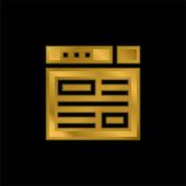 Blogging vergoldet metallisches Symbol oder Logo-Vektor
