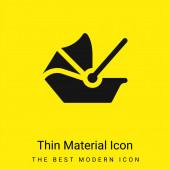 Babytrage minimal hellgelbes Materialsymbol