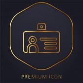 Abzeichen goldene Linie Premium-Logo oder Symbol