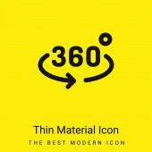 360 fok minimális világos sárga anyag ikon