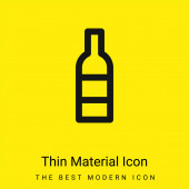 Bottle minimal bright yellow material icon