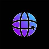 360 kék gradiens vektor ikon