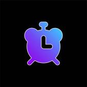 Ikona modrého přechodu budíku