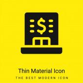 Bankovní minimální jasně žlutá ikona materiálu