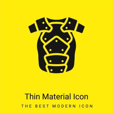 Armor minimal bright yellow material icon stock vector