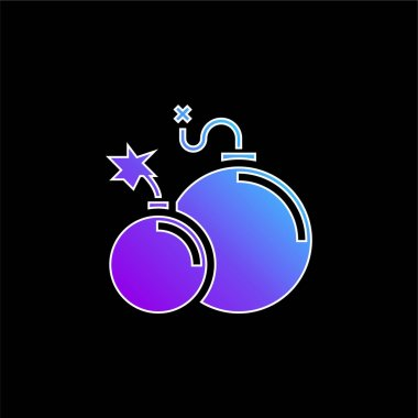 Atomic Bomb blue gradient vector icon stock vector