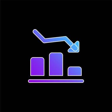 Bar Graph blue gradient vector icon stock vector