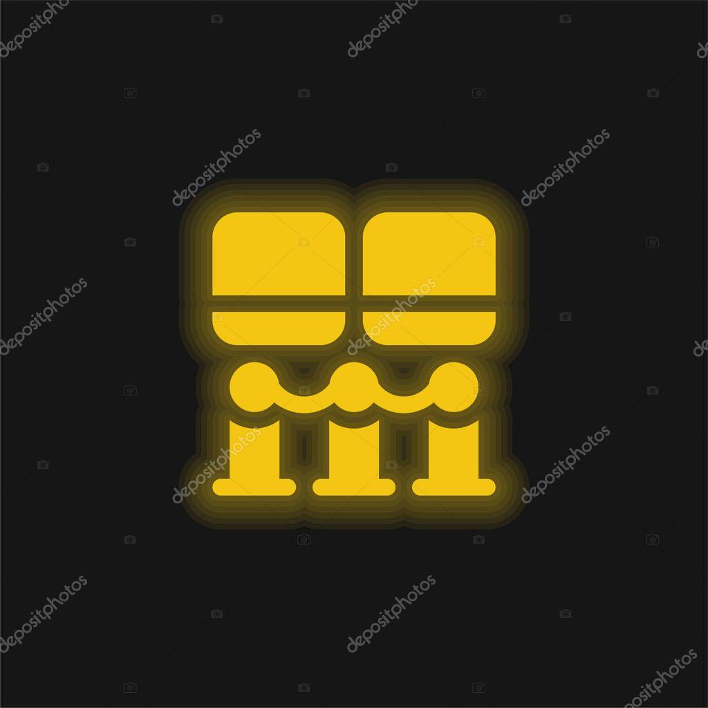 Art Museum yellow glowing neon icon stock vector