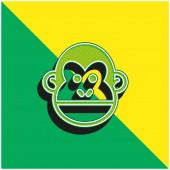 Animal Green und Yellow modernes 3D-Vektor-Symbol-Logo