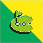 Birdie Grünes und gelbes modernes 3D-Vektor-Symbol-Logo