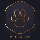 Animal Track arany vonal prémium logó vagy ikon