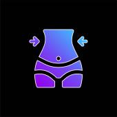 Körper blaues Gradienten-Vektor-Symbol