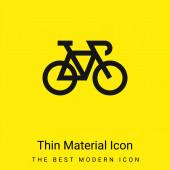 Kolo minimální jasně žlutý materiál ikona