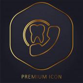 Ernennung goldene Linie Premium-Logo oder Symbol