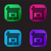 Kolonky čtyři barevné sklo ikona