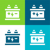 Baterie Byt čtyři barvy minimální ikona nastavena