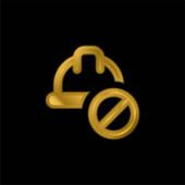 Verbotene vergoldete metallische Symbole oder Logovektoren