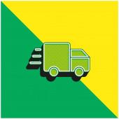 Ads Zelená a žlutá moderní 3D vektorové logo ikony