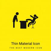 Boss Office minimales hellgelbes Material-Symbol