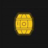 Barrel gelb leuchtende Neon-Symbol