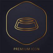Schale goldene Linie Premium-Logo oder Symbol