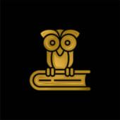 Buch vergoldet metallisches Symbol oder Logo-Vektor
