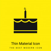 Birthday Cake With One Candle minimal bright yellow material icon