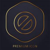 Block goldene Linie Premium-Logo oder Symbol
