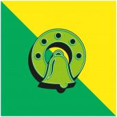 Bell Zelená a žlutá moderní 3D vektorové logo ikony