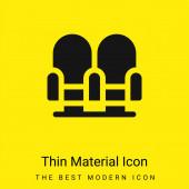 Sessel minimales leuchtend gelbes Materialsymbol