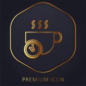Brechen Sie goldene Linie Premium-Logo oder Symbol