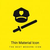 Baton minimální jasně žlutý materiál ikona