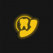 Appointment yellow glowing neon icon