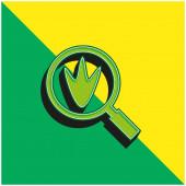Bird Prints Grünes und gelbes modernes 3D-Vektor-Symbol-Logo