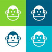 Animal Flat Minimal Icon Set mit vier Farben