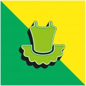 Balet Zelená a žlutá moderní 3D vektorové logo ikony