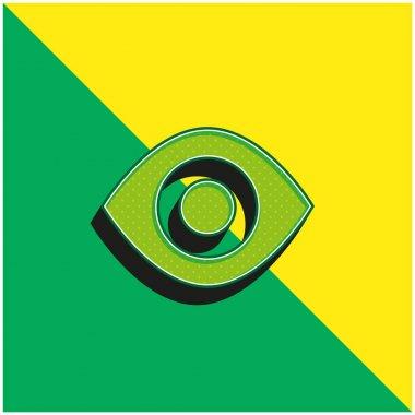 Black Eye Green and yellow modern 3d vector icon logo stock vector