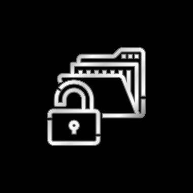 Access silver plated metallic icon stock vector