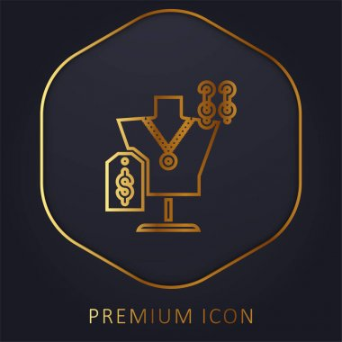 Accesories golden line premium logo or icon stock vector