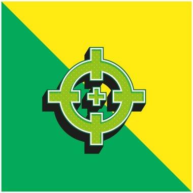 Aim Green and yellow modern 3d vector icon logo stock vector