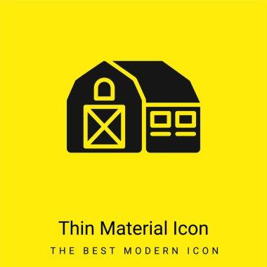 Barn minimal bright yellow material icon stock vector