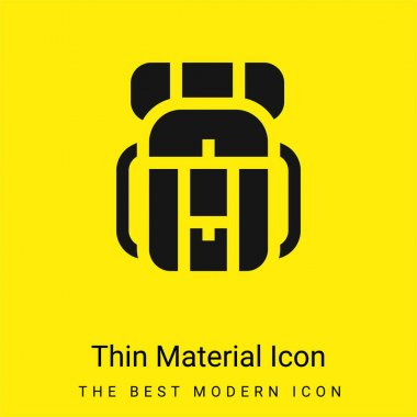 Backpack minimal bright yellow material icon stock vector