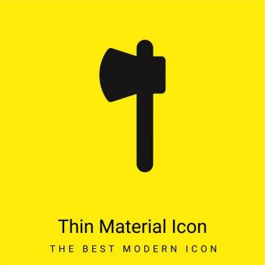 Axe minimal bright yellow material icon stock vector