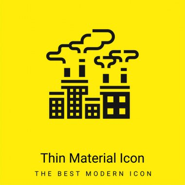 Air Pollution minimal bright yellow material icon stock vector