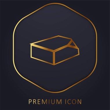 Box Organization Tool golden line premium logo or icon stock vector