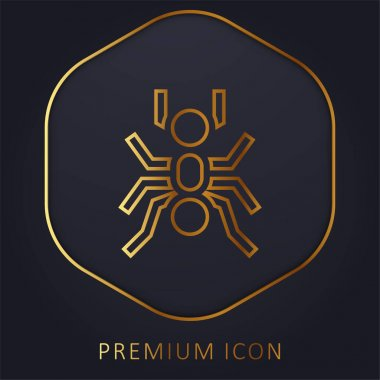 Ant golden line premium logo or icon stock vector